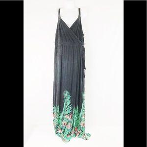 Old Navy Tropical Wrap Maxi Dress Women's Size XL